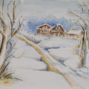 winterlandschaft aquarell