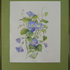 blaue winde aquarell